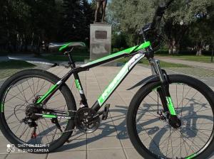 """Велосипед  KANO 26""""   чёрно-зелёный"""