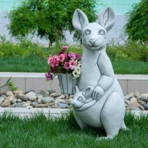Садовая фигура Кенгуру- Кашпо