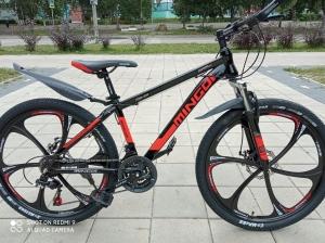 """Велосипед  MINGDI 26"""" чёрно-красный"""